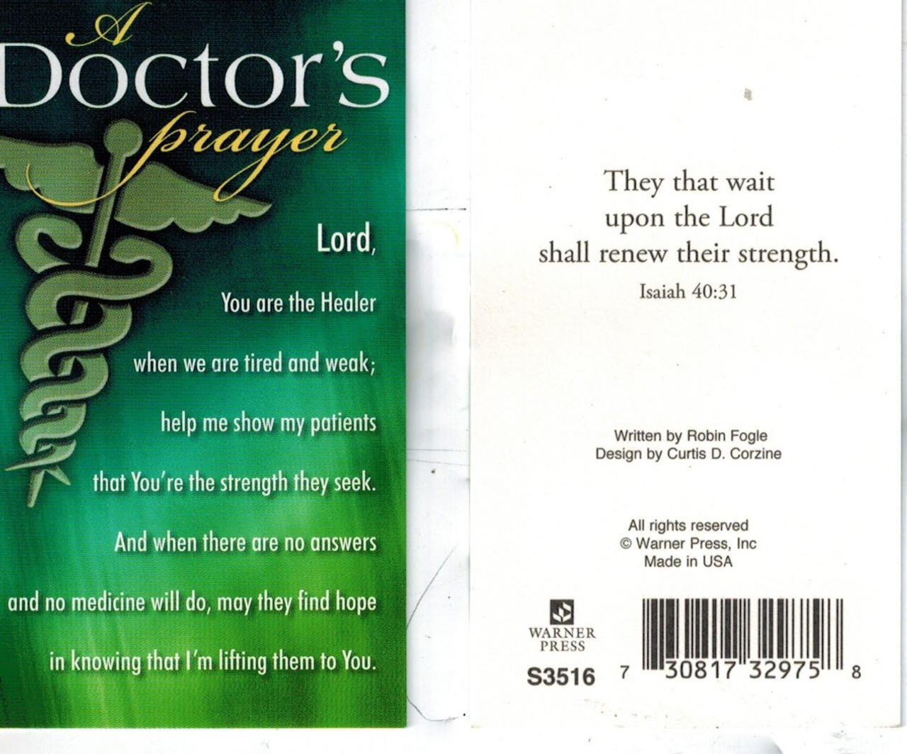 A Doctor's Prayer