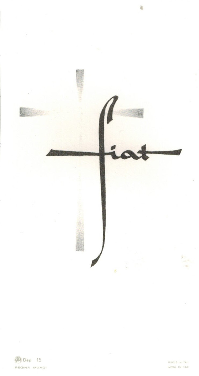 Fiat Holy Card