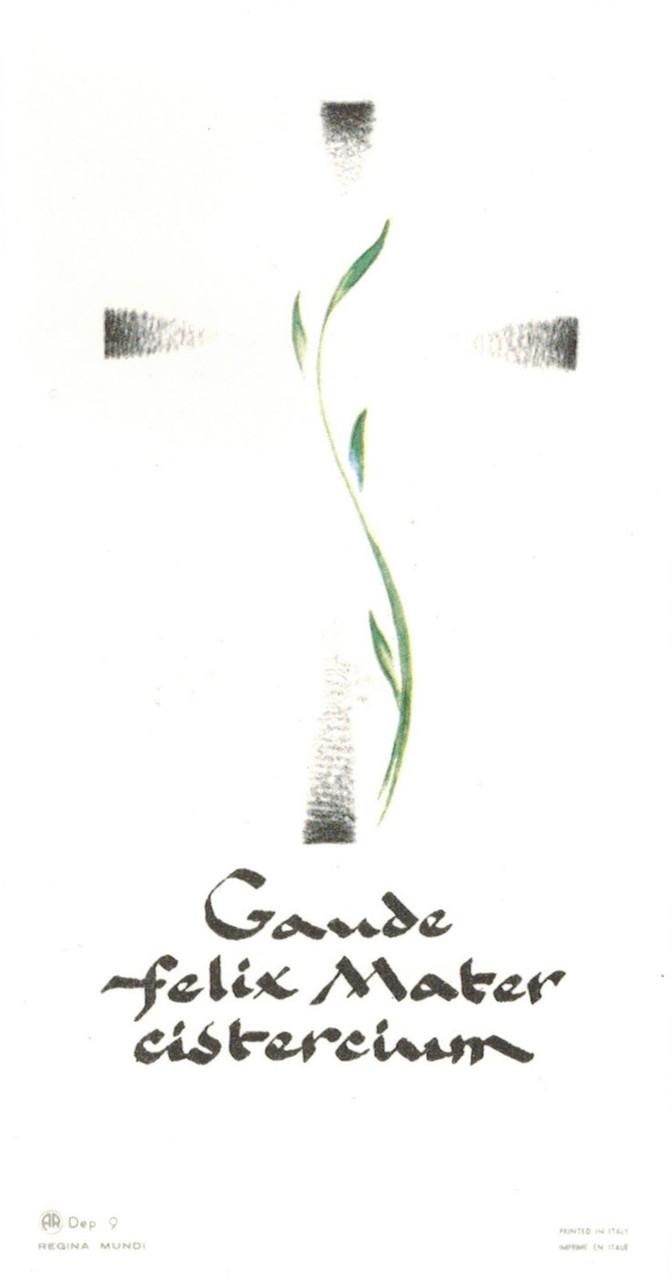 Gaude Mater Holy Card
