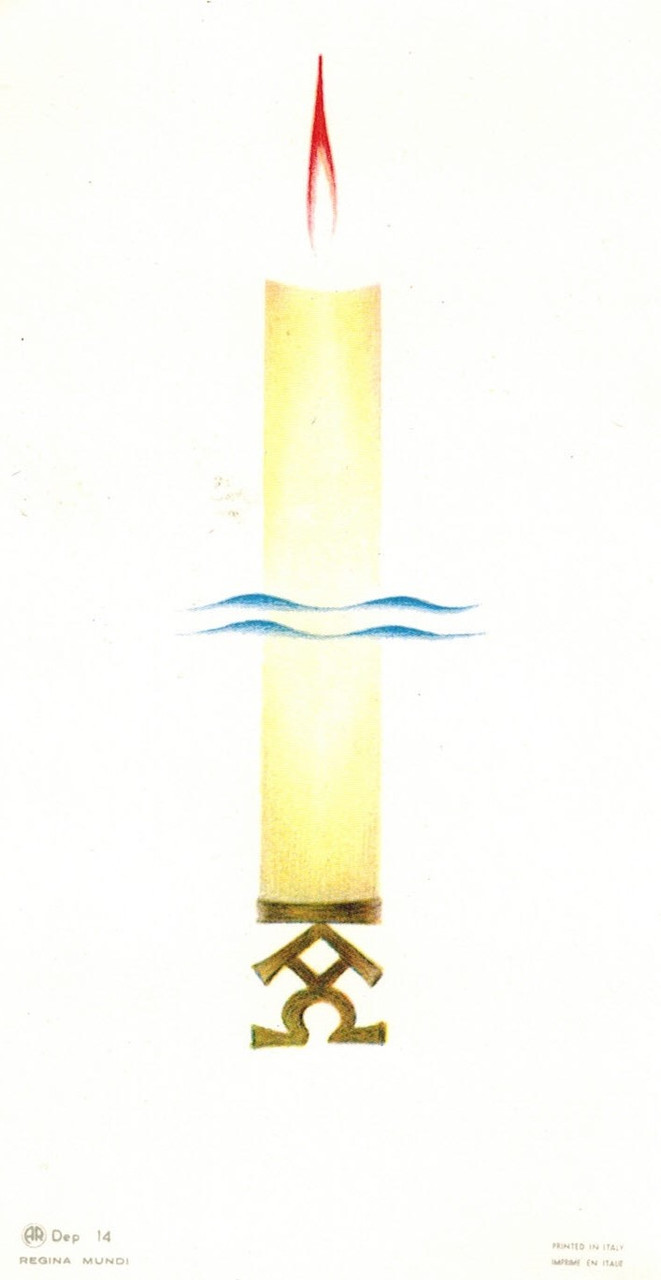 Paschal Candle Holy Card