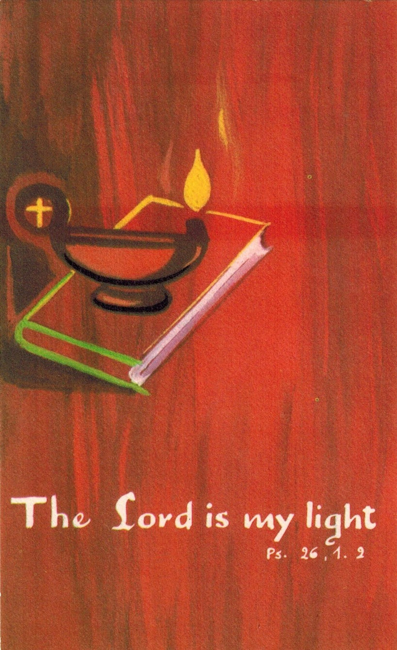 The Lord is My Light Prayer Card