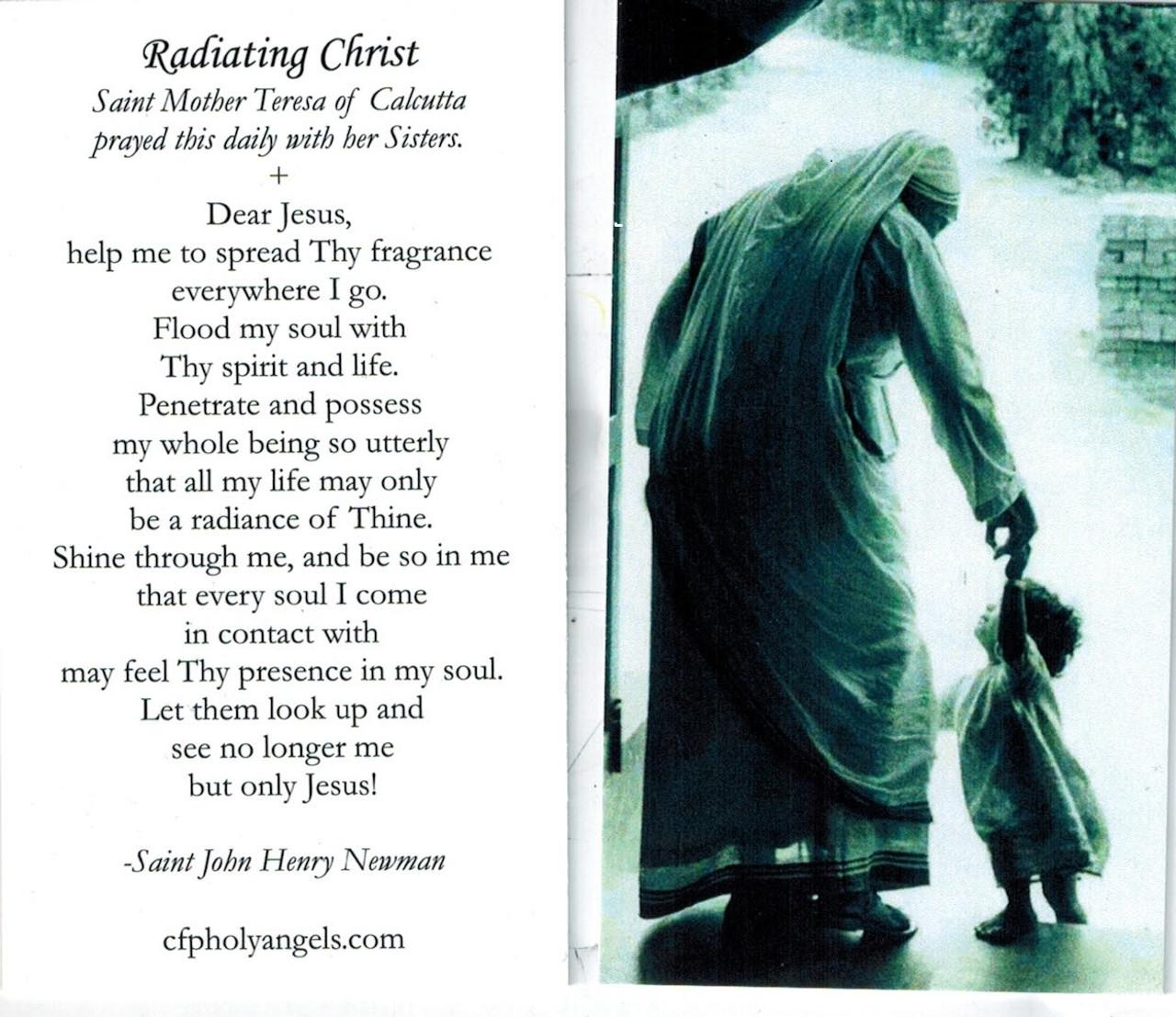 Radiating Christ Prayer Card