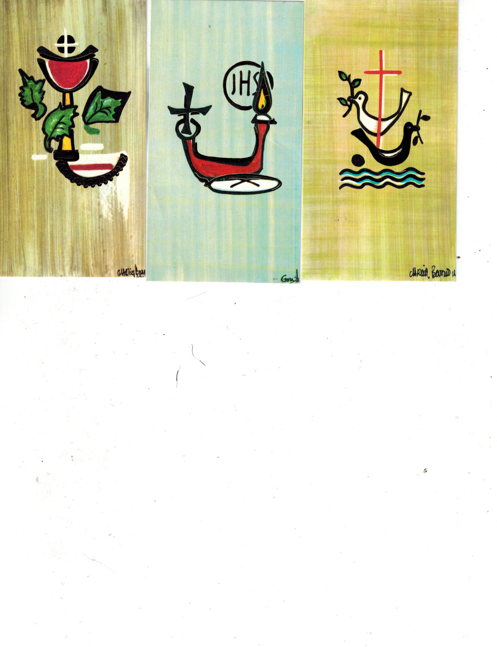Covenant Symbols Holy Cards