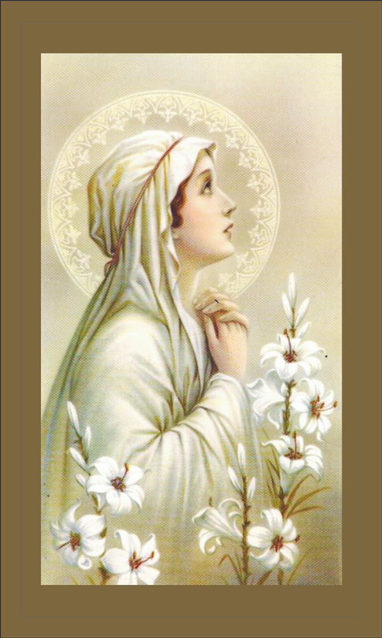 Our Lady of Mental Peace  Prayer Card
