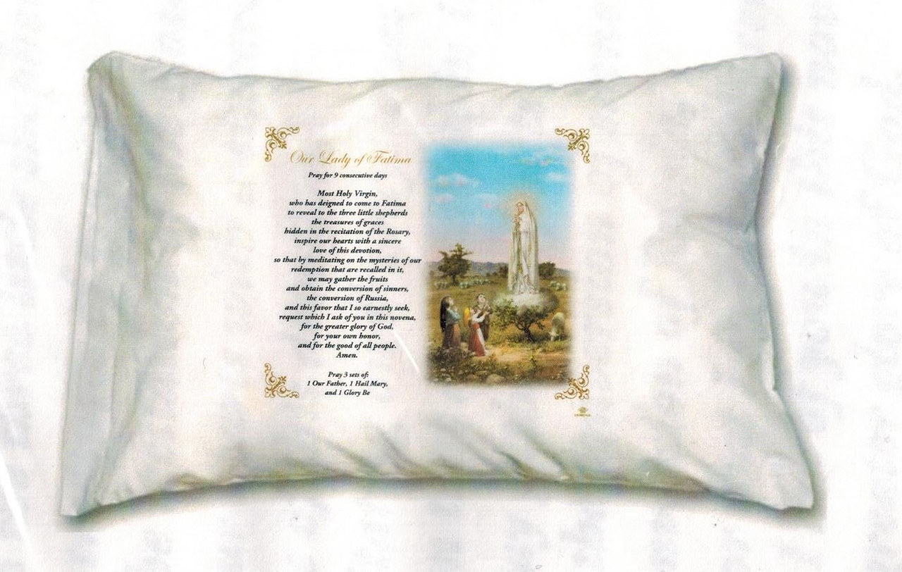 Our Lady of Fatima Novena Prayer Pillowcase