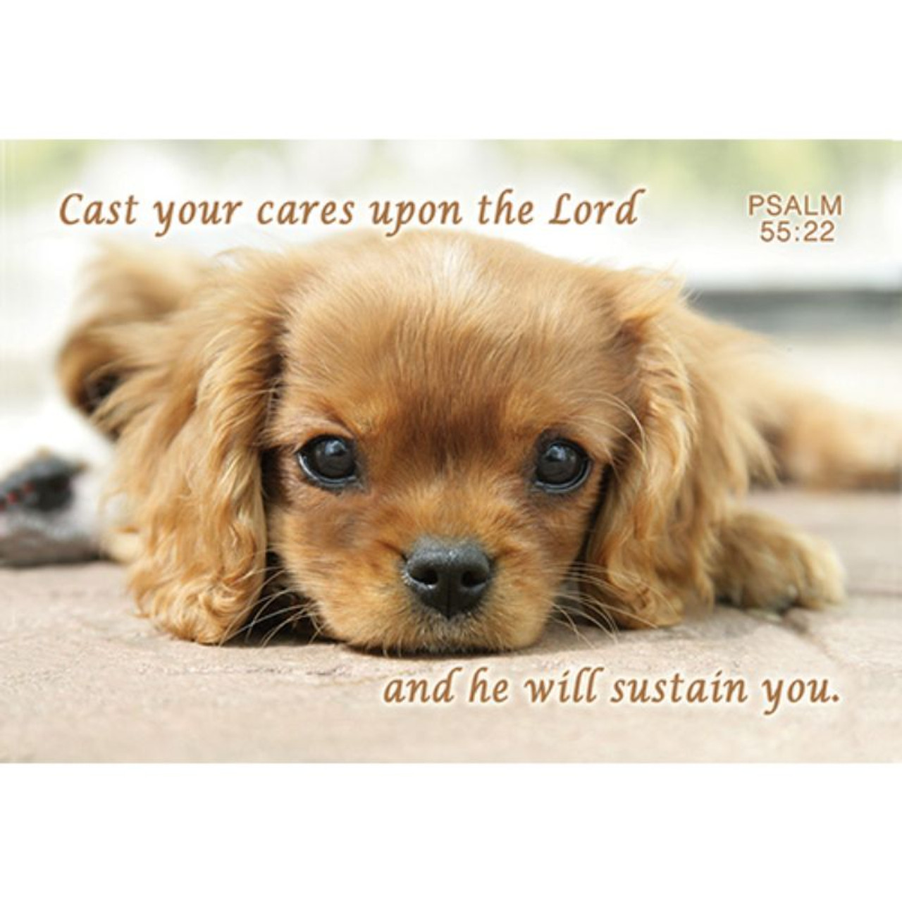 Cast Your Cares Message Card