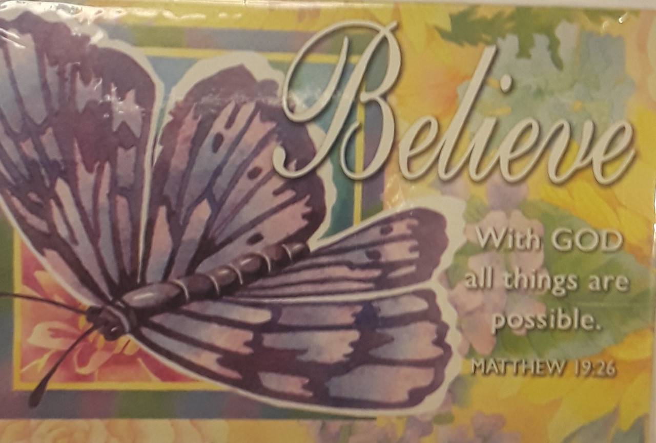 Believe With God All Things Are Possible Message Card