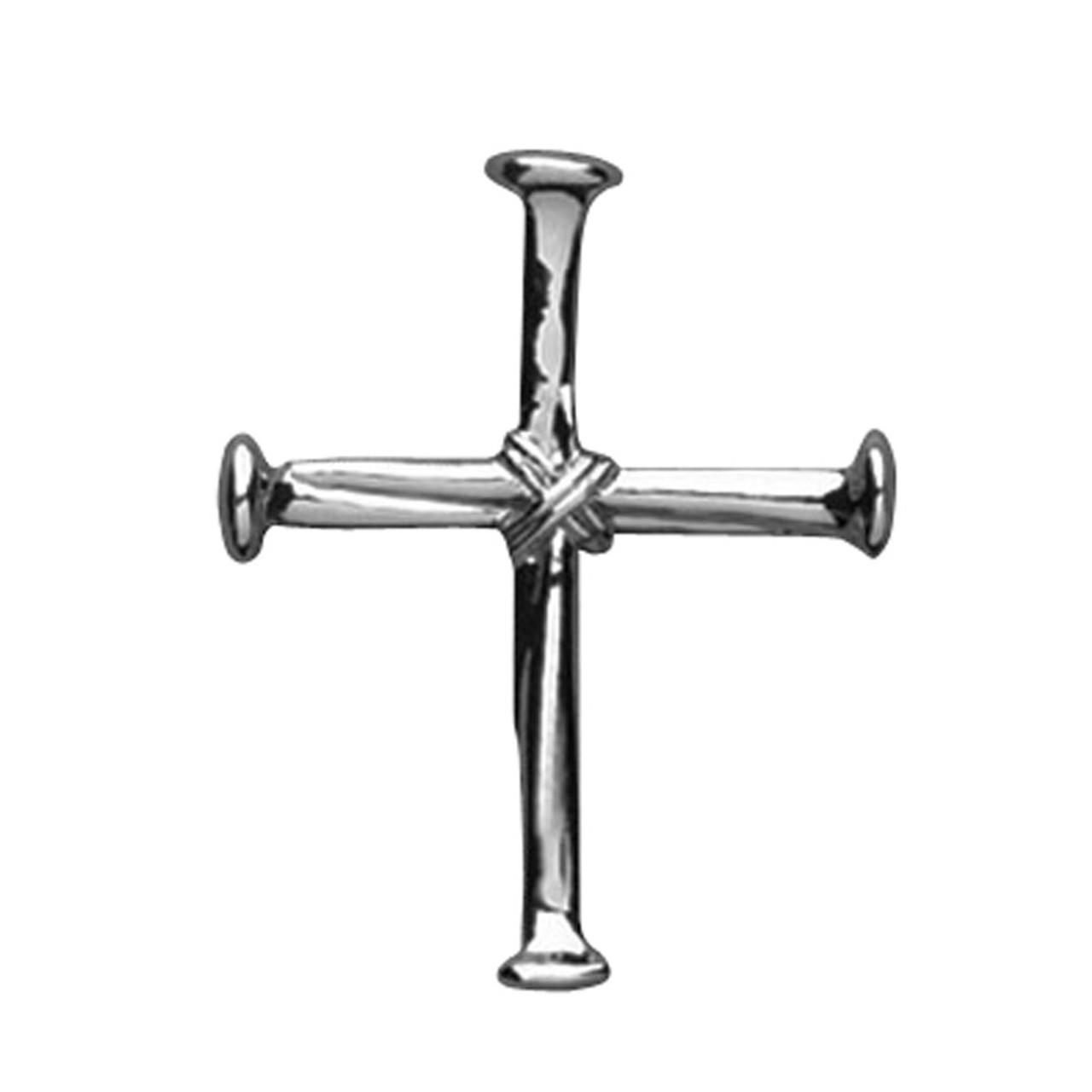 Nail Cross Lapel Pin