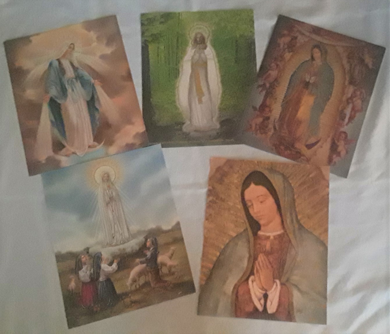 Mother Mary Images with Gold Highlights - Italian Gold Press Metal Foil
