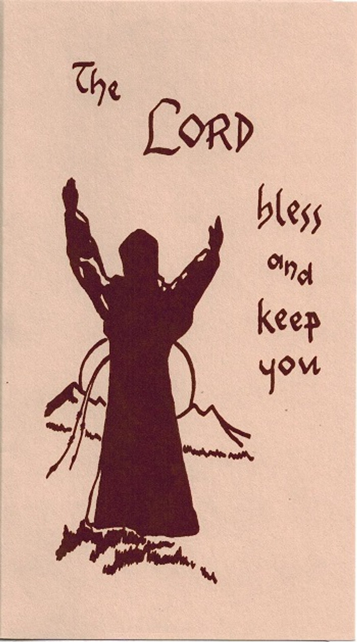 The Lord Bless and Keep You Franciscan thank you note card