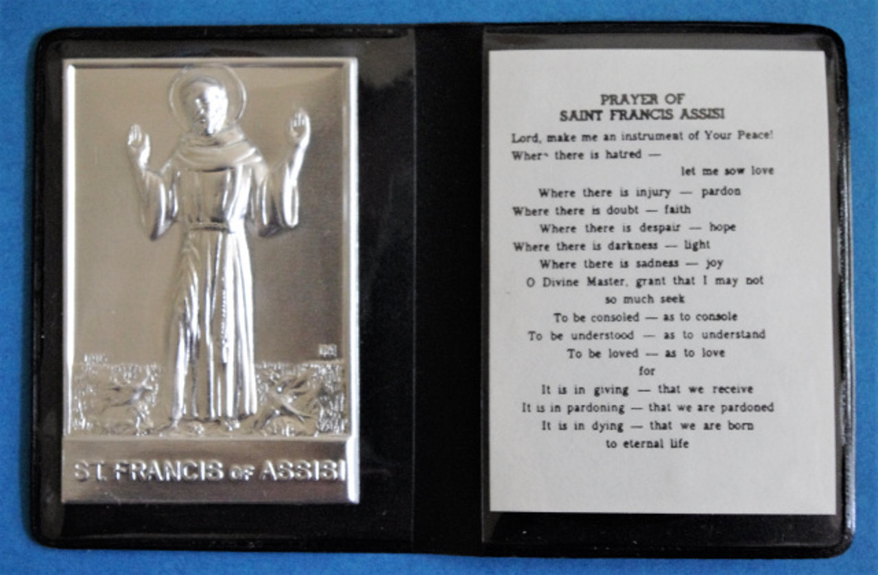 Saint Francis of Assisi Carry in Your Pocket Fold Out Plaque