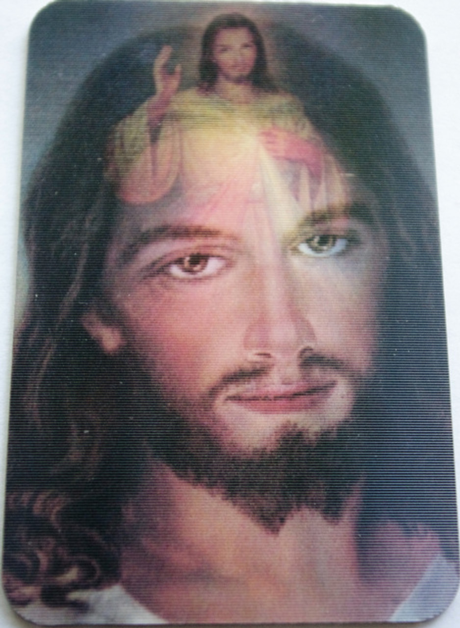 Divine Mercy Holograph Image Card