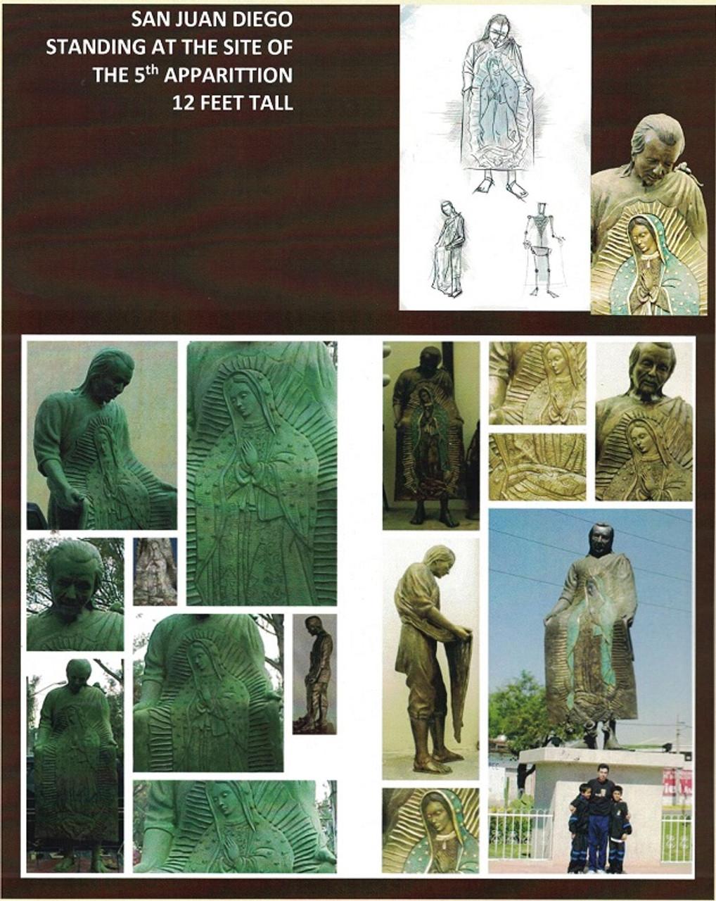 Custom Bronze Statuary Juan Diego Images