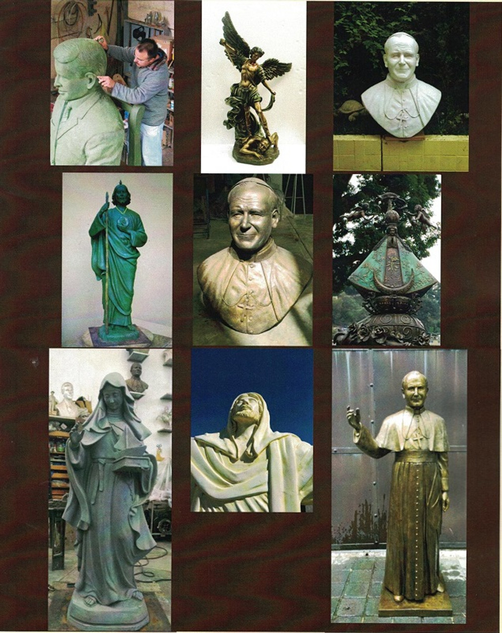 Custom Bronze Statuary Various Religious Images