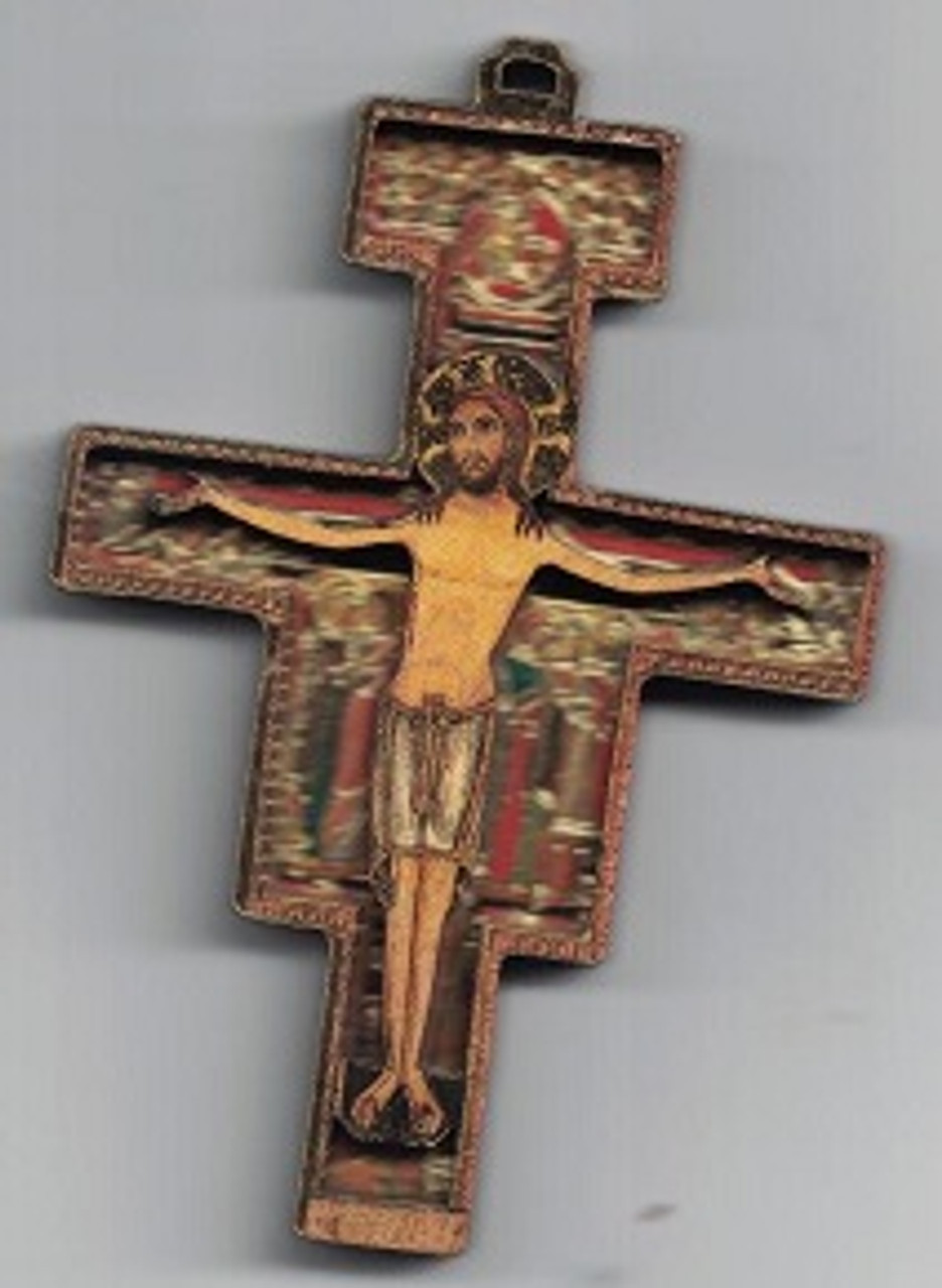 San Damiano 3-D Wood Cross