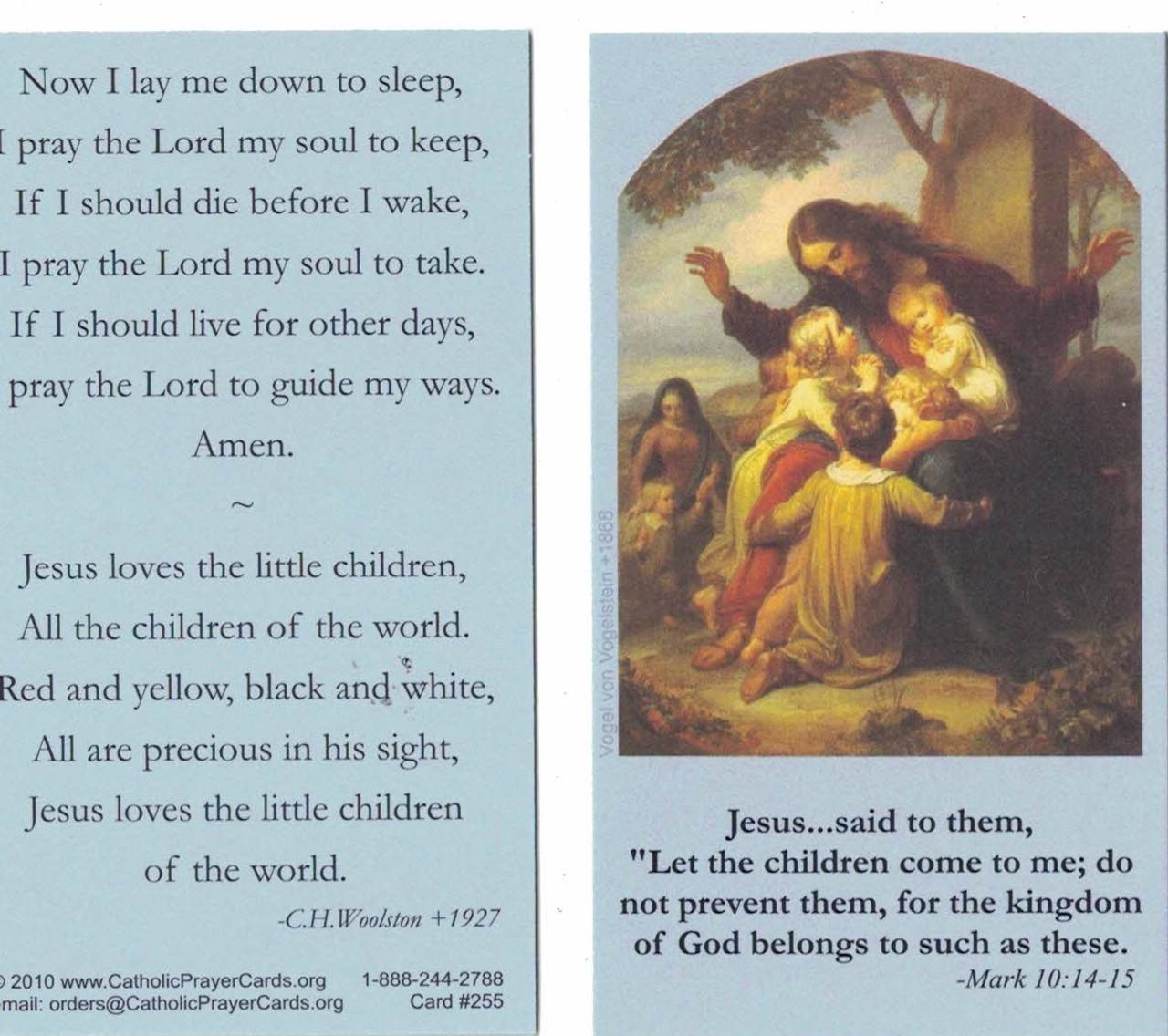 Now I Lay Me Down to Sleep Prayer Card