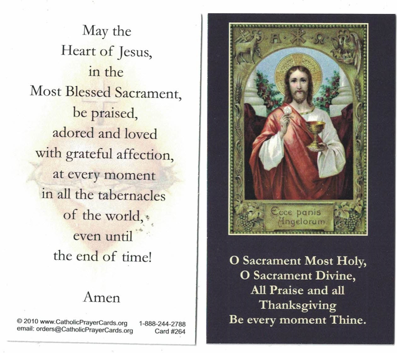 Jesus in the Blessed Sacrament Prayer Card