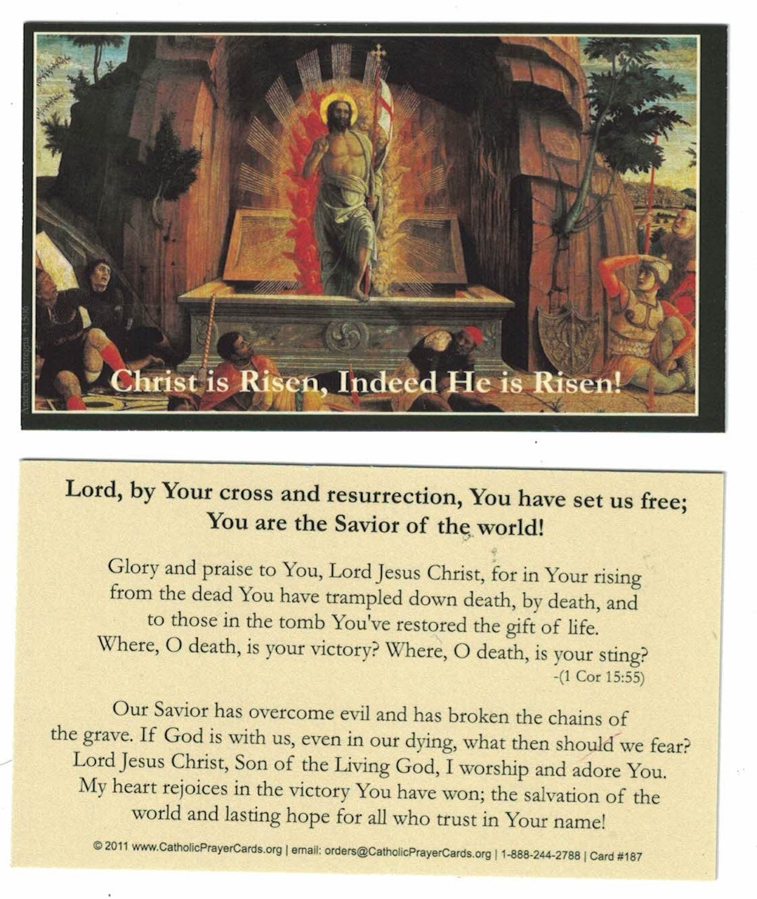 Christ is Risen - Easter Joy Prayer Card