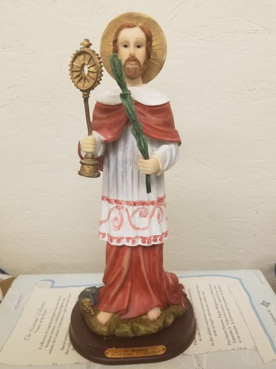 Saint Raymond Statue 12 inches