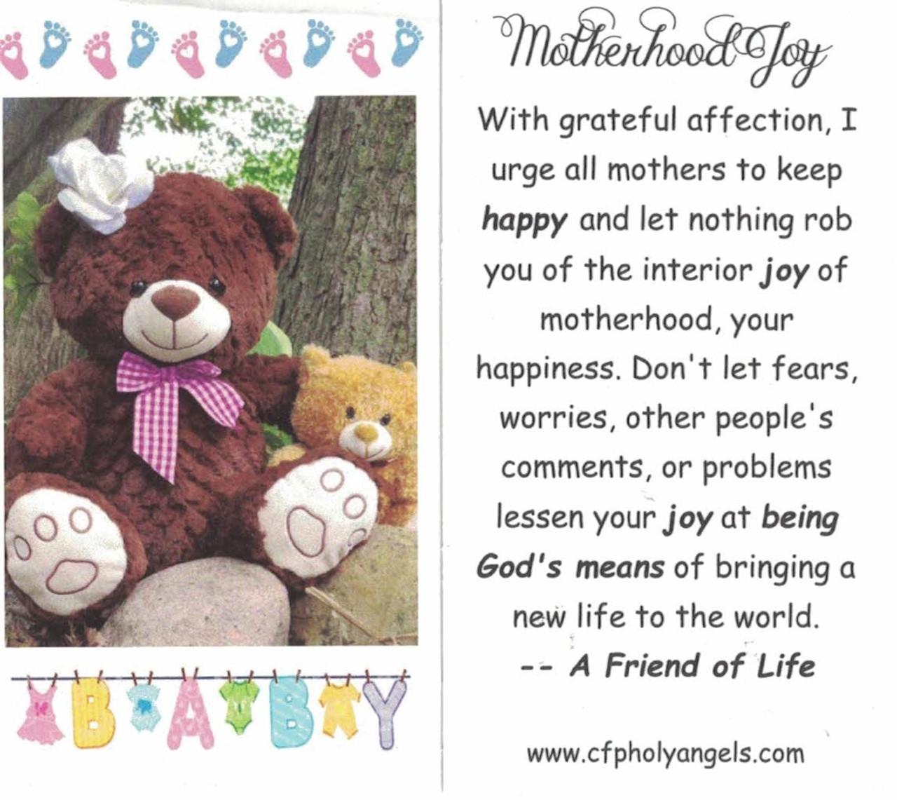 Motherhood Joy Prayer Card