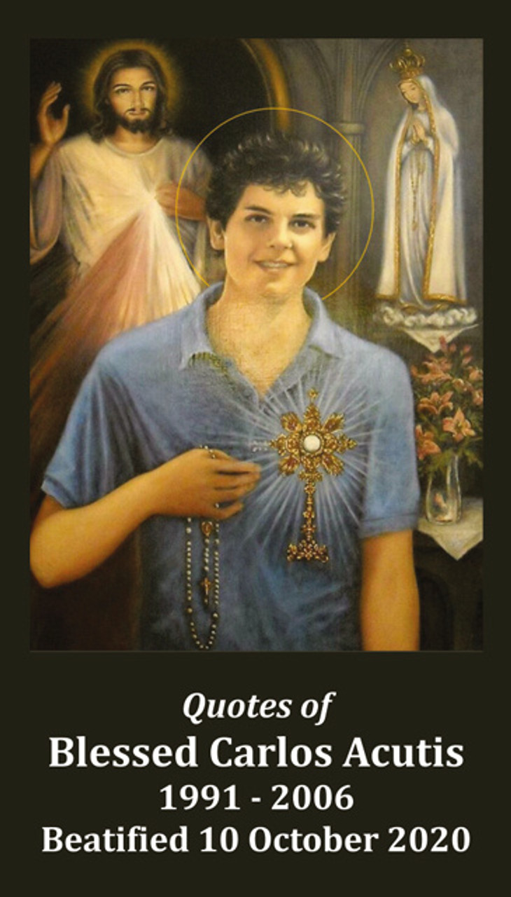 Blessed Carlos Acutis Prayer Card