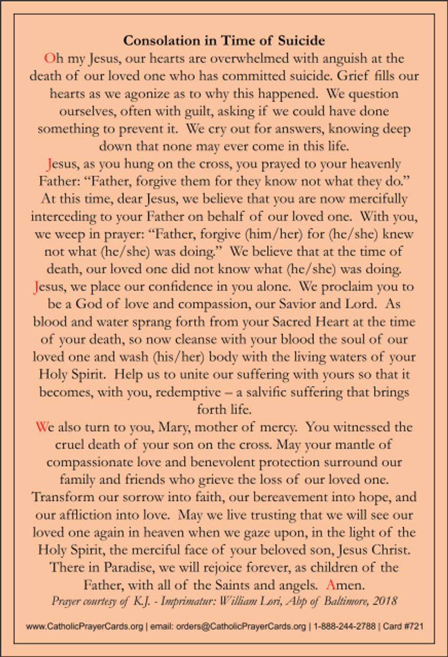 Prayer for Those Affected by Suicide