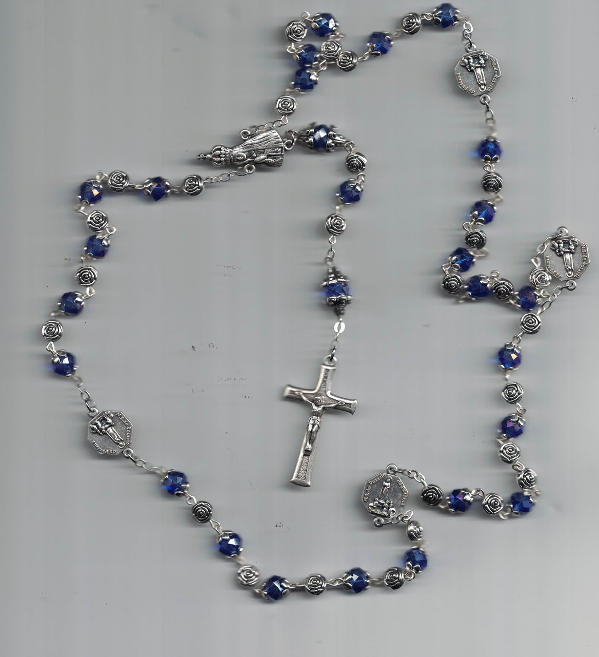 Cobalt Blue Crystal Rosary from Fatima-Hand Made in Portugal