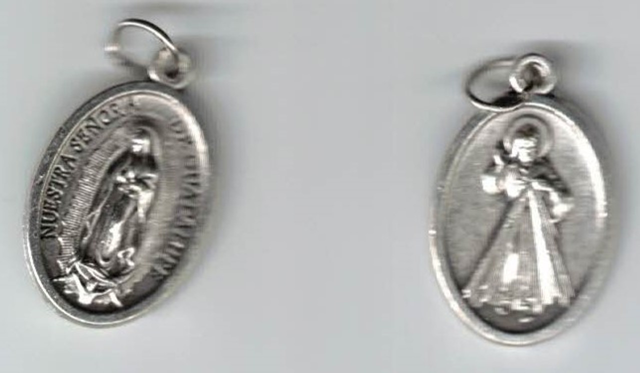 Divine Mercy and Our Lady of Guadalupe Medal