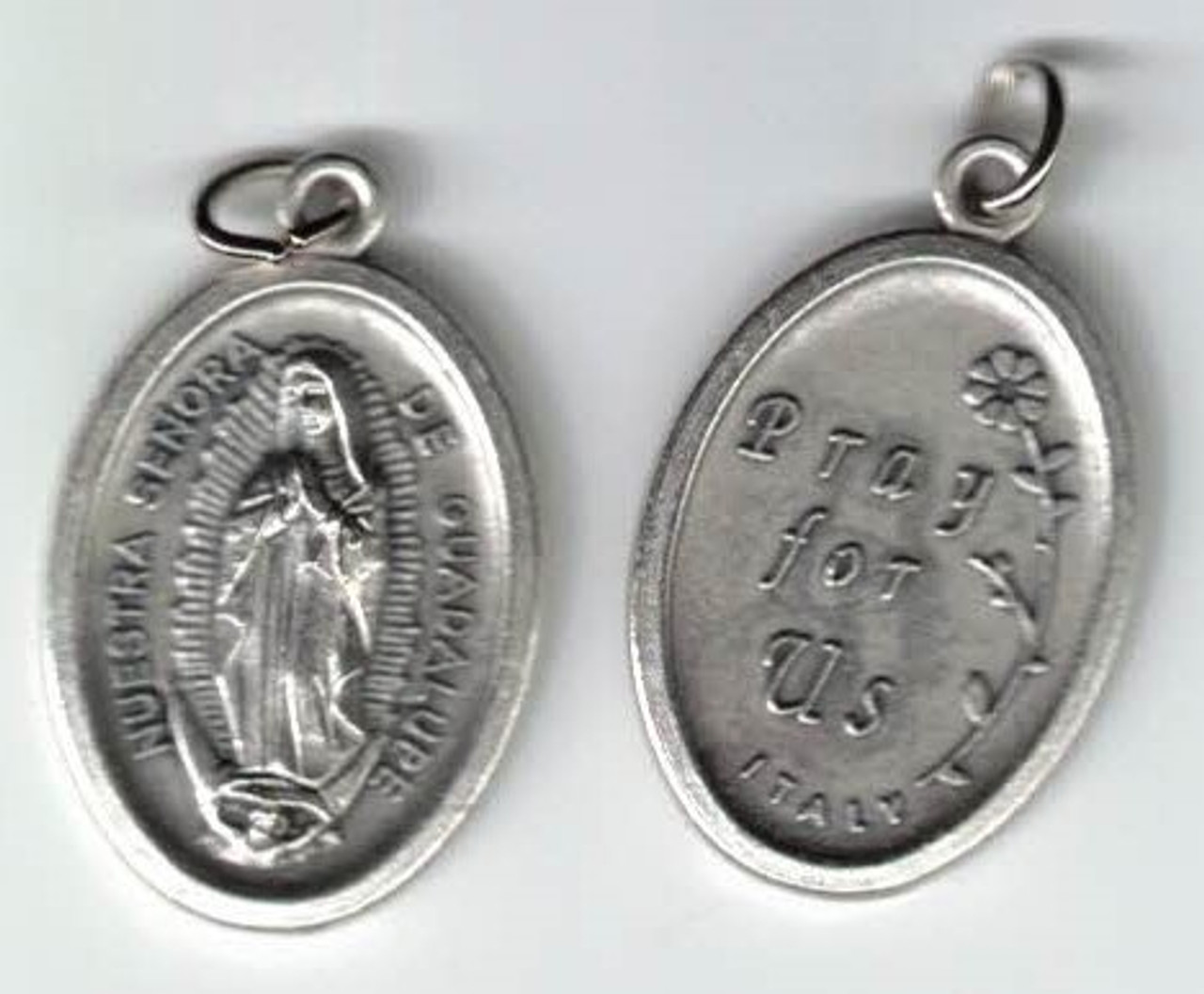 Our Lady of Guadalupe silver oxidized Medal--new version