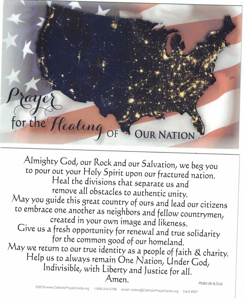 Prayer for Healing of the United States of America