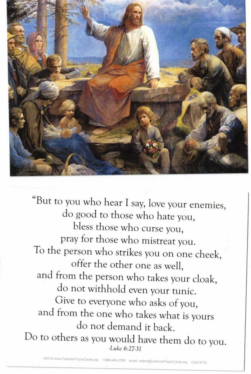 Love Your Enemies Scripture Prayer Card