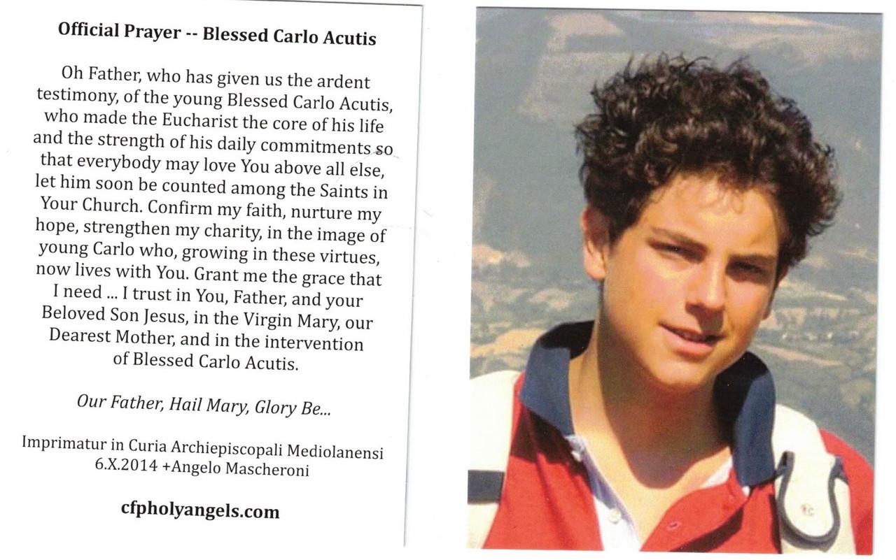 Official Prayer Carlo Acutis