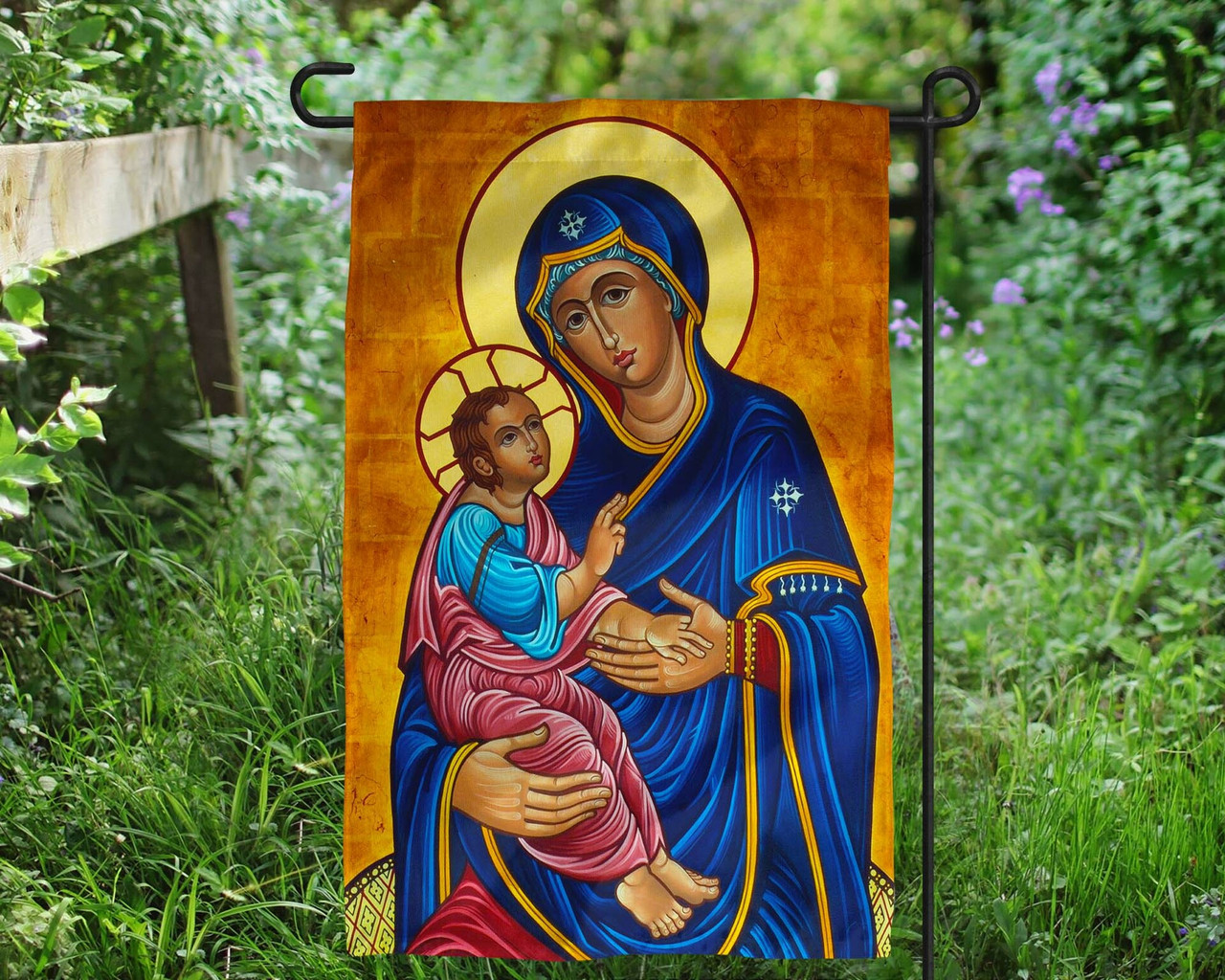 Our Lady of Good Health Outdoor Garden Flag