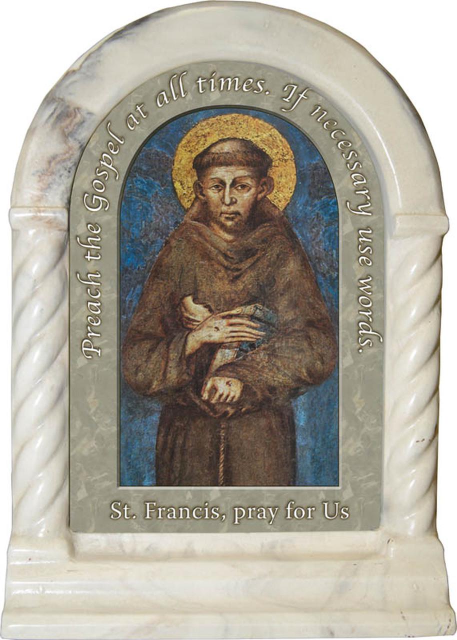 Saint Francis of Assisi Cimabue Image Desk Shrine Marble