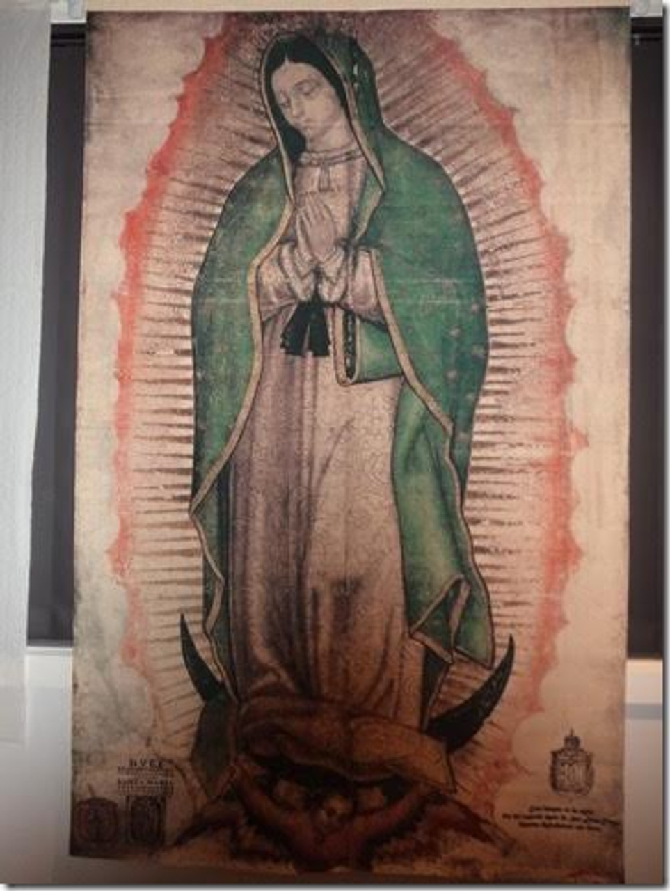 Our Lady of Guadalupe life size tilma replica