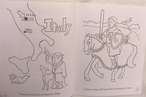 The Little Flowers Of Saint Francis Of Assisi Coloring Book