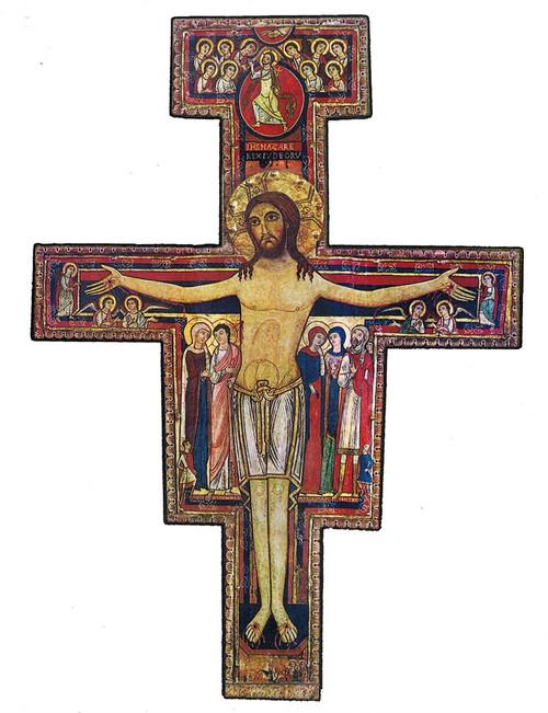 "San Damiano Crucifix Print  - 8 1/2"" x 11"""