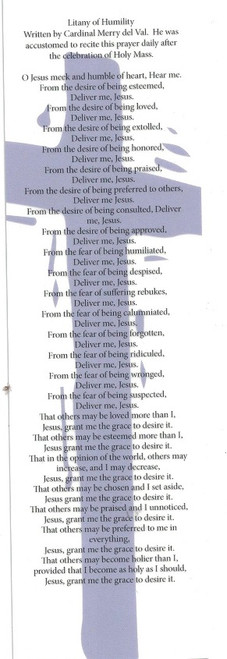 buy Litany of Humility Wallet Size Prayer card