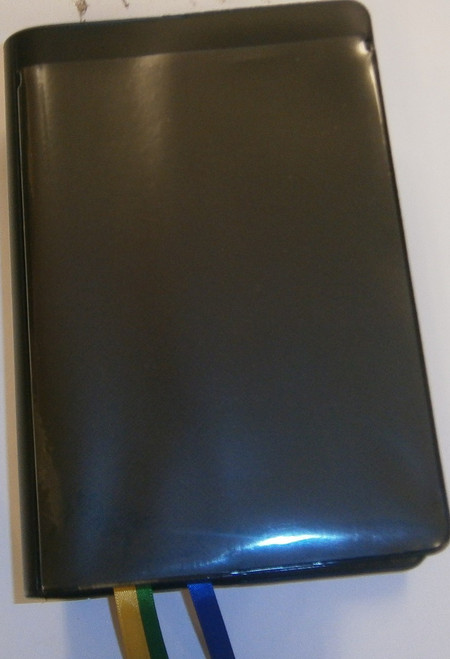 Roman Franciscan Christian Prayer (one volume breviary). Black plastic cover clear vinyl pocket.