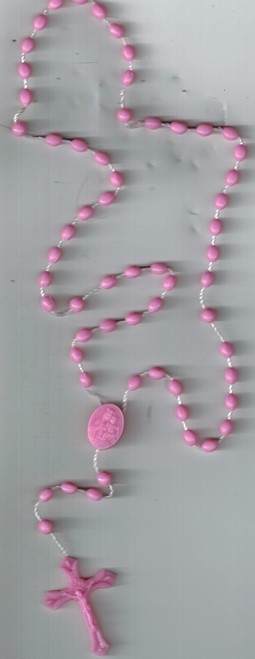 Inexpensive Pink Plastic Rosary