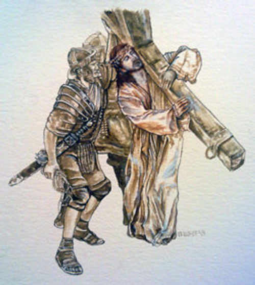 Station 2 - Jesus Takes up His Cross