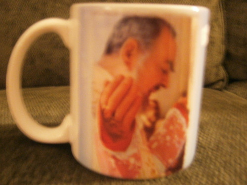 Padre Pio At Mass Mug