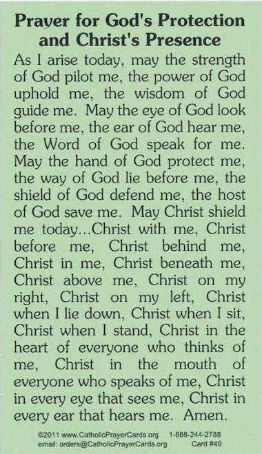 Saint Patrick Of Ireland Prayer Card