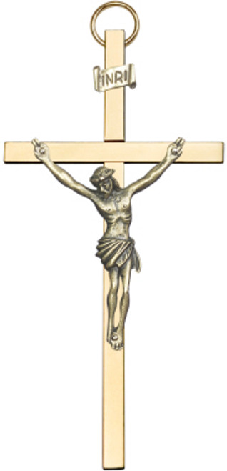 Traditional Bliss Wall Crucifix Gold on Gold