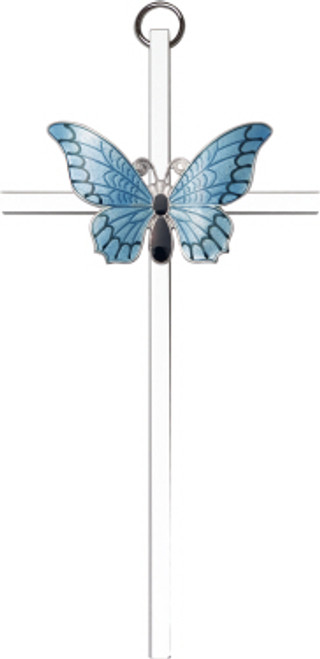 Bliss Blue Butterfly Resurrection Cross