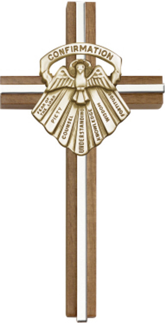 Bliss Walnut Confirmation Seven Gifts Cross