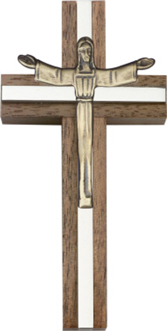 Bliss Walnut Risen Christ Cross