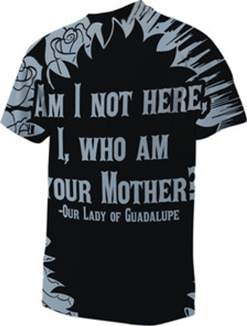 OUR LADY OF GUADALUPE POLY T-SHIRT --Bay Blue Back