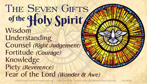Back of Seven Sacraments/Seven Gifts of the Holy Spirit