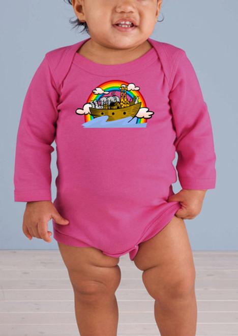 Noah's Ark Long-Sleeve Baby Onesie